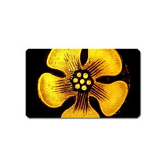 Yellow Flower Stained Glass Colorful Glass Magnet (Name Card)