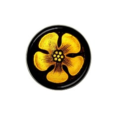 Yellow Flower Stained Glass Colorful Glass Hat Clip Ball Marker (10 Pack)