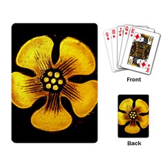 Yellow Flower Stained Glass Colorful Glass Playing Card