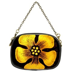 Yellow Flower Stained Glass Colorful Glass Chain Purses (two Sides)