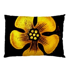 Yellow Flower Stained Glass Colorful Glass Pillow Case