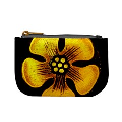 Yellow Flower Stained Glass Colorful Glass Mini Coin Purses