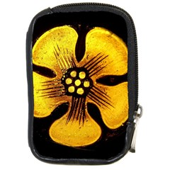 Yellow Flower Stained Glass Colorful Glass Compact Camera Cases