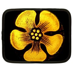 Yellow Flower Stained Glass Colorful Glass Netbook Case (XXL)