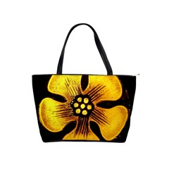 Yellow Flower Stained Glass Colorful Glass Shoulder Handbags