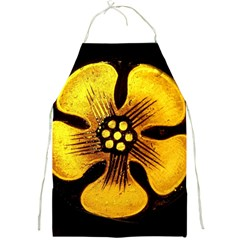 Yellow Flower Stained Glass Colorful Glass Full Print Aprons