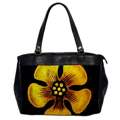 Yellow Flower Stained Glass Colorful Glass Office Handbags