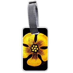 Yellow Flower Stained Glass Colorful Glass Luggage Tags (Two Sides)