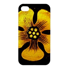 Yellow Flower Stained Glass Colorful Glass Apple iPhone 4/4S Hardshell Case
