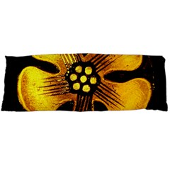 Yellow Flower Stained Glass Colorful Glass Body Pillow Case Dakimakura (two Sides)