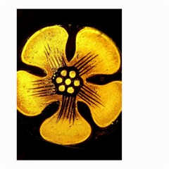 Yellow Flower Stained Glass Colorful Glass Small Garden Flag (two Sides)