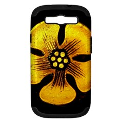 Yellow Flower Stained Glass Colorful Glass Samsung Galaxy S Iii Hardshell Case (pc+silicone)