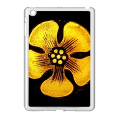 Yellow Flower Stained Glass Colorful Glass Apple iPad Mini Case (White)