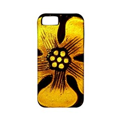 Yellow Flower Stained Glass Colorful Glass Apple Iphone 5 Classic Hardshell Case (pc+silicone)