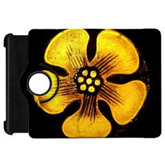 Yellow Flower Stained Glass Colorful Glass Kindle Fire HD 7