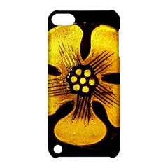 Yellow Flower Stained Glass Colorful Glass Apple iPod Touch 5 Hardshell Case with Stand