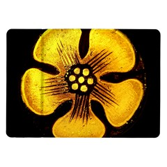 Yellow Flower Stained Glass Colorful Glass Samsung Galaxy Tab 10 1  P7500 Flip Case