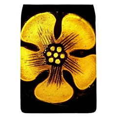 Yellow Flower Stained Glass Colorful Glass Flap Covers (S)