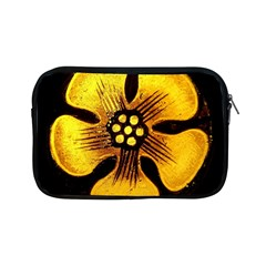 Yellow Flower Stained Glass Colorful Glass Apple iPad Mini Zipper Cases