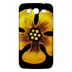 Yellow Flower Stained Glass Colorful Glass Samsung Galaxy Mega 5 8 I9152 Hardshell Case