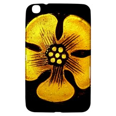 Yellow Flower Stained Glass Colorful Glass Samsung Galaxy Tab 3 (8 ) T3100 Hardshell Case