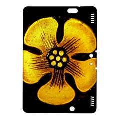 Yellow Flower Stained Glass Colorful Glass Kindle Fire HDX 8.9  Hardshell Case