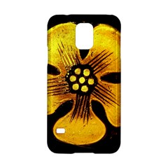 Yellow Flower Stained Glass Colorful Glass Samsung Galaxy S5 Hardshell Case