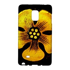 Yellow Flower Stained Glass Colorful Glass Galaxy Note Edge