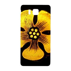 Yellow Flower Stained Glass Colorful Glass Samsung Galaxy Alpha Hardshell Back Case