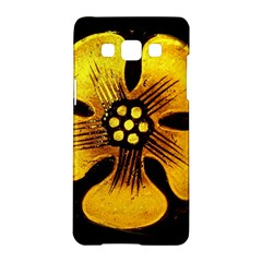 Yellow Flower Stained Glass Colorful Glass Samsung Galaxy A5 Hardshell Case