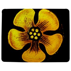 Yellow Flower Stained Glass Colorful Glass Jigsaw Puzzle Photo Stand (Rectangular)