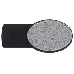 Water Glass Pattern Drops Wet USB Flash Drive Oval (1 GB)