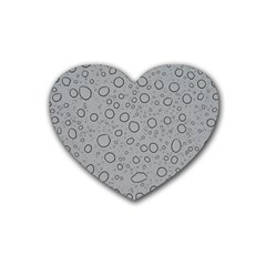 Water Glass Pattern Drops Wet Heart Coaster (4 pack)