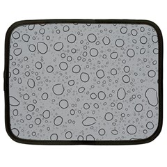 Water Glass Pattern Drops Wet Netbook Case (Large)