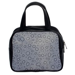 Water Glass Pattern Drops Wet Classic Handbags (2 Sides)