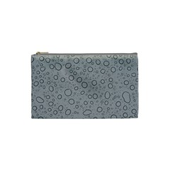 Water Glass Pattern Drops Wet Cosmetic Bag (Small)