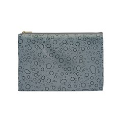 Water Glass Pattern Drops Wet Cosmetic Bag (medium)