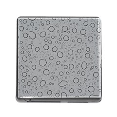 Water Glass Pattern Drops Wet Memory Card Reader (square)