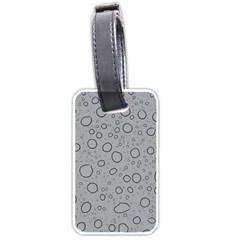 Water Glass Pattern Drops Wet Luggage Tags (One Side)