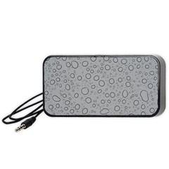 Water Glass Pattern Drops Wet Portable Speaker (Black)