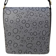 Water Glass Pattern Drops Wet Flap Messenger Bag (S)