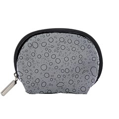 Water Glass Pattern Drops Wet Accessory Pouches (Small)