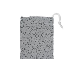 Water Glass Pattern Drops Wet Drawstring Pouches (Small)
