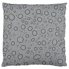Water Glass Pattern Drops Wet Large Flano Cushion Case (Two Sides)