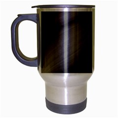 Wave Form Texture Background Travel Mug (silver Gray)