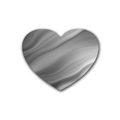Wave Form Texture Background Rubber Coaster (Heart)