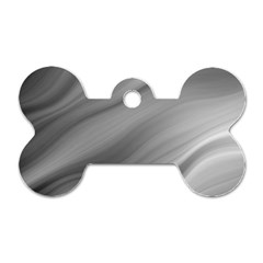 Wave Form Texture Background Dog Tag Bone (Two Sides)