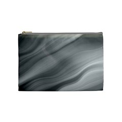 Wave Form Texture Background Cosmetic Bag (Medium)