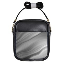 Wave Form Texture Background Girls Sling Bags