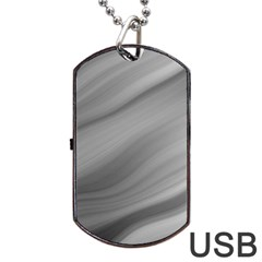 Wave Form Texture Background Dog Tag USB Flash (Two Sides)